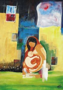 Mother and child von Lalit Kumar Jain