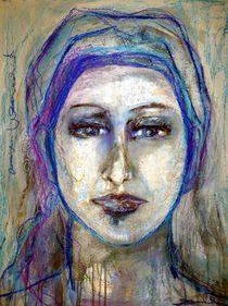 Frau mit Tuch by Christine Lamade