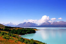 Southern Alps and Lake Pukaki South island New Zealand von Kevin W.  Smith