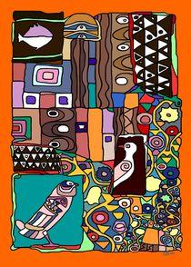 Patchwork Klimt I von SUSANNE eva maria  FISCHBACH