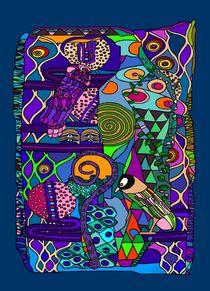 Patchwork Klimt II von SUSANNE eva maria  FISCHBACH