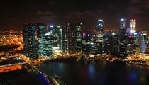 Skyline von Singapur by Julia  Berger