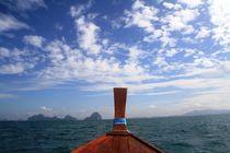 Thailand Longtailboat von Julia  Berger