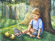 Boy Finds His Dragon by Patricia Allingham Carlson