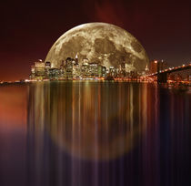 New York Full Moon by temponaut