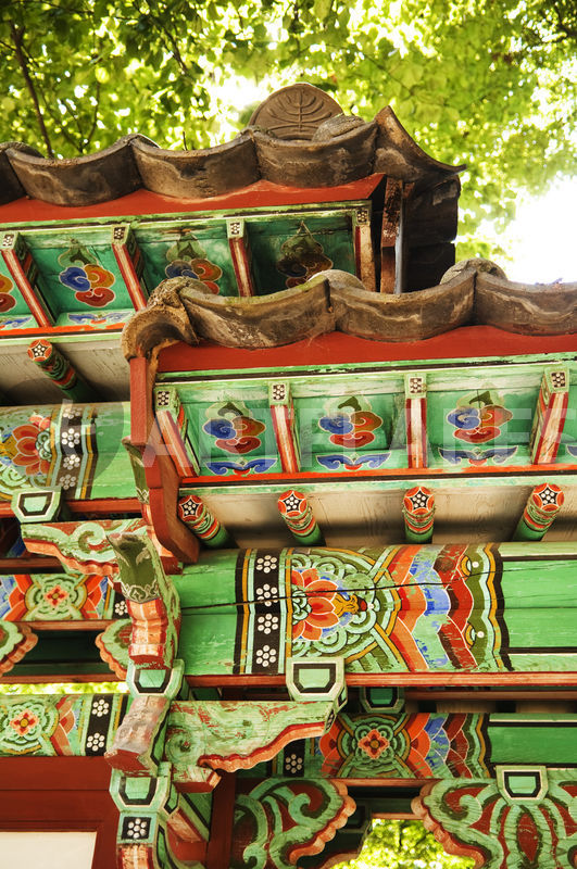 Detail Of Traditional Korean Architecture Photography Art Prints