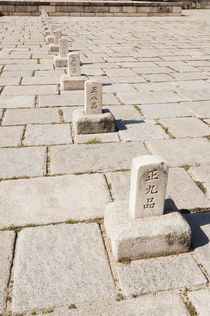 The cobbled plaza of the Injeongjeon throne hall. von Tom Hanslien