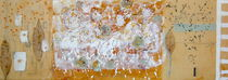 I snow-encaustic on board 36''x12'' von Antoaneta Hillman