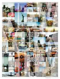 NEW YORK CITY MONTAGE - TYPE by Darren Martin
