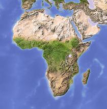 Reliefkarte Afrika von Michael Schmeling