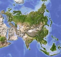 Reliefkarte Asien von Michael Schmeling