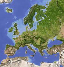 Reliefkarte Europa von Michael Schmeling