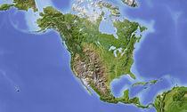 Reliefkarte Nordamerika von Michael Schmeling