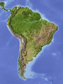 Reliefkarte Südamerika von Michael Schmeling