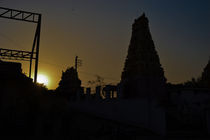 The Temple Sunset  by Samar Jha