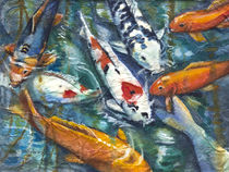 Koi on Rice Paper by Patricia Allingham Carlson
