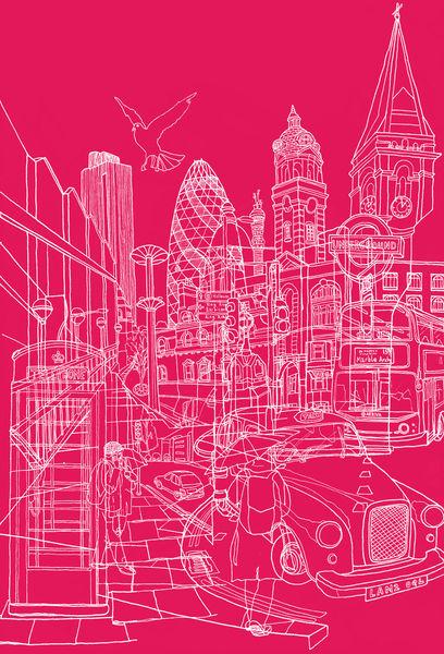 London-hot-pink