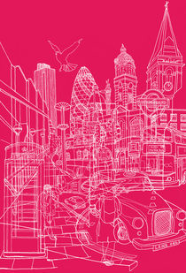 London! Hot Pink by David Bushell