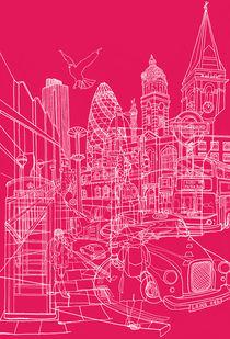 London! Hot Pink von David Bushell