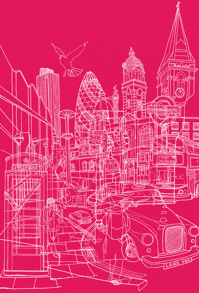 London-hot-pink