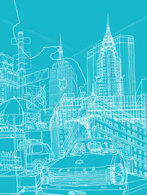 New York! Blueprint von David Bushell
