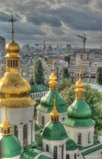 Goldene Kuppel von Kiew von Iryna Mathes