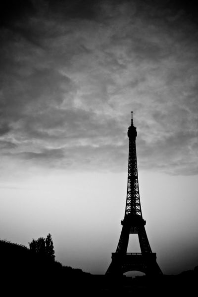 Black And White Paintings of The Eiffel Tower Eiffel Black And White