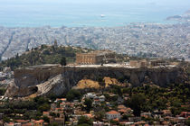 Acropolis seen from Lykavittos hill by Miroslava Andric