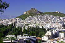 Mount Lycavittos rising from Athens by Miroslava Andric