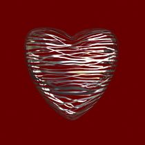 Chrome Heart - Deep Red von Philip Roberts