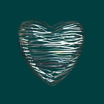 Chrome Heart Teal by Philip Roberts