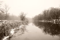 winter river by Alexandr Verba