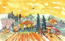 Golden Vineyard  von Warren Thompson