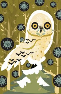 Forest Owl von regalrebeldesigns
