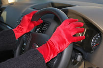 Red Driving Gloves by Buster Brown Photography