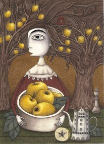 Portrait of an Apple Orchard von Judith  Clay
