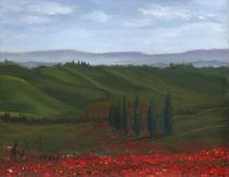 Green Tuscan Hills by Leah Wiedemer