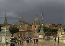Rain on the Piazza by Leah Wiedemer
