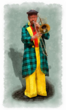 The Clown 1 aquarell von Wessel Woortman