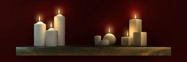Candel-lit-shelf-burgundy