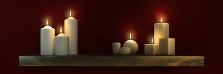 Candel-lit-shelf-burgundy