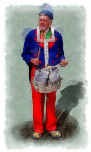 Woortman-w-clown-2-aquarell