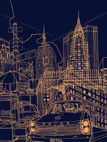 New York! Night von David Bushell
