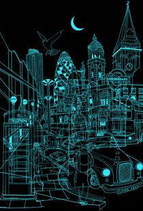 London! Night von David Bushell