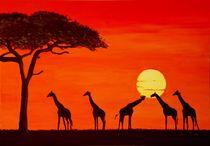 Sonnenuntergang in Afrika von Petra Koob