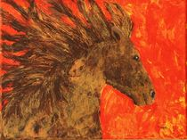 Galoppierendes Pferd von Petra Koob