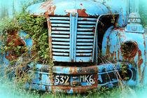 Old truck in France von Katia Boitsova-Hošek