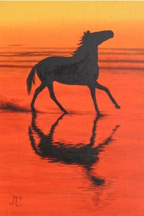 HORSES - On the Beach von Jarmila Matyasova