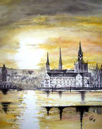 Konstanz in Abendstimmung. by Christine  Hamm