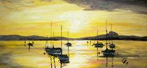 Schiffe im Sonnenuntergang by Christine  Hamm